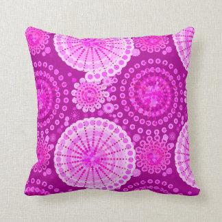 Starbursts and pinwheels, amethyst purple throw pillow