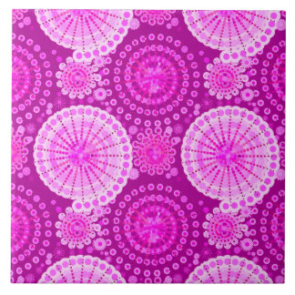 Starbursts and pinwheels, amethyst purple tile