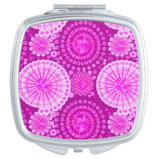 Starbursts and pinwheels, amethyst purple vanity mirror