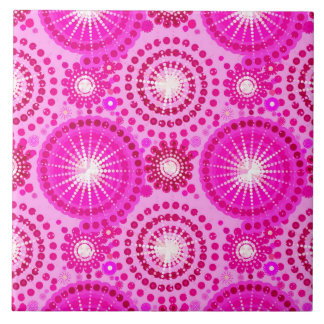 Starbursts and pinwheels, orchid and magenta tile