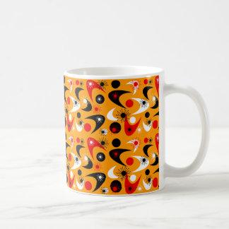 Starbursts retro y bumeranes taza de café