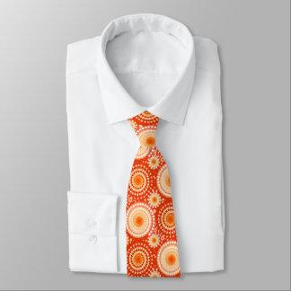 Starbursts y molinillos de viento, mandarina corbatas personalizadas