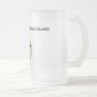 STARC NEBRASKA NATIONAL GUARD FROSTED GLASS BEER MUG