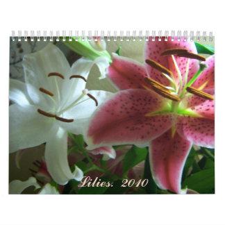 starcasa, lirios   2010 calendario