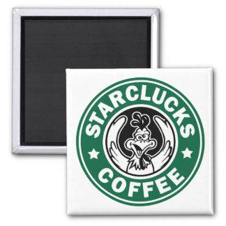 STARCLUCKS COFFEE 2 INCH SQUARE MAGNET