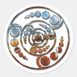 Stardrive-Chrome Crop Circle Classic Round Sticker