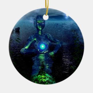 stardust angel ceramic ornament