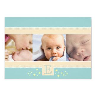 Stardust Baby Boy Birth Announcement
