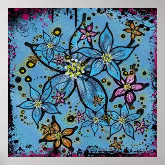 Stardust Flowers Print
