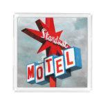 Stardust Motel Sign Acrylic Tray