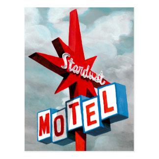 Stardust Motel Sign Postcard