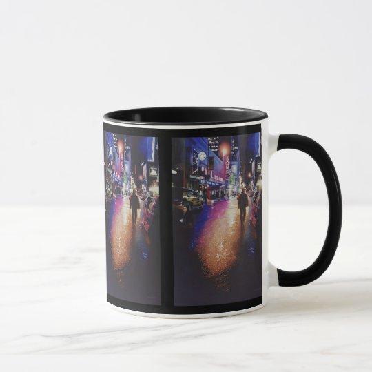 """Stardust"" New York Scene Watercolor Painting Mug"