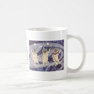 Stardust Pugs Classic White Coffee Mug