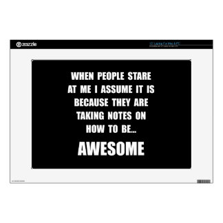 """Stare Awesome 15"""" Laptop Decal"""