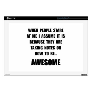 Stare Awesome Laptop Decal