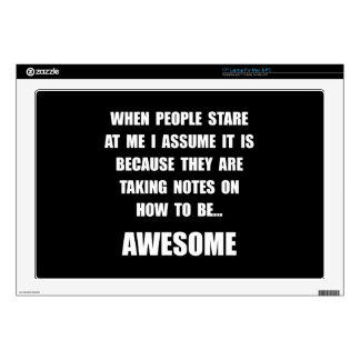 Stare Awesome Laptop Decals