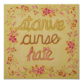 Stare Curse Hate: Parody Poster