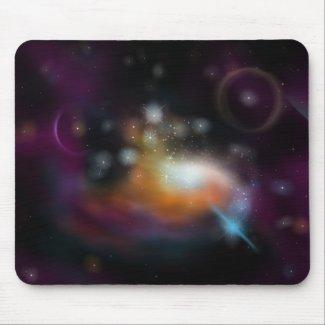 Starfield and Nebula Mousepad
