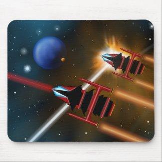 Starfighter Scifi Mousepad