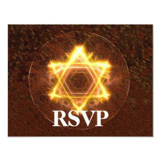 Starfire Bar/Bat Mitzvah RSVP 4.25x5.5 Paper Invitation Card
