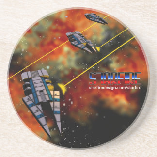 Starfire Coaster: KON Destroyers in battle Drink Coaster