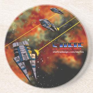Starfire Coaster: KON Destroyers in battle Drink Coaster