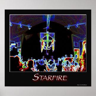 Starfire en el poster del fuego