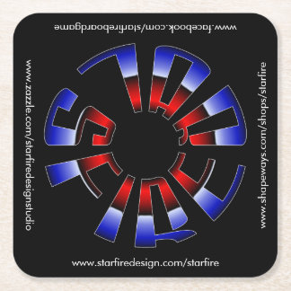 Starfire Square Coaster with urls