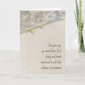 Starfish 10th Anniversary Card