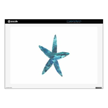 "Beach Themed Starfish 17"" Laptop Decal"