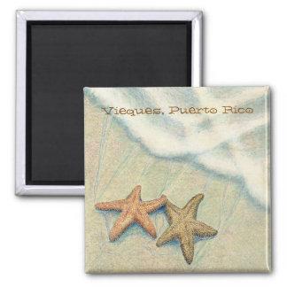 Starfish 2 Inch Square Magnet