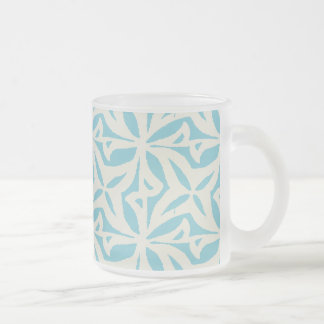 Starfish Abstract Pattern Frosted Glass Coffee Mug