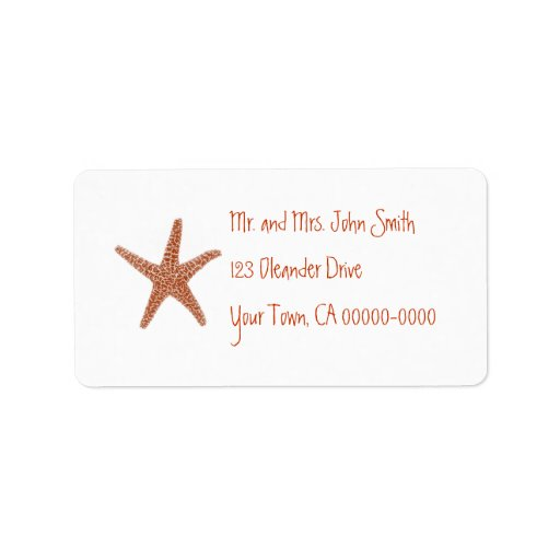 Starfish Address Label