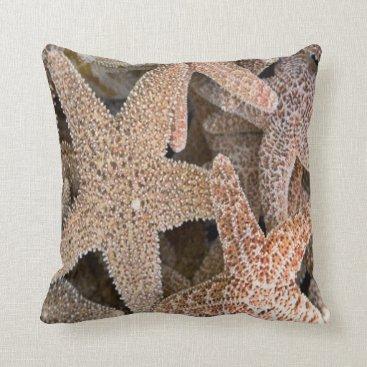 Beach Themed Starfish all around throw pillow