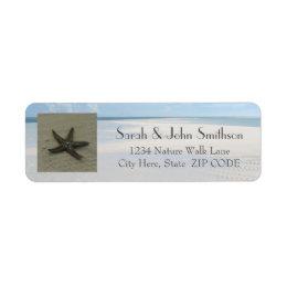 Starfish and Beach Return Address Labels