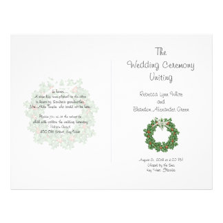 Starfish and Holly Tropical Christmas Program Flyer