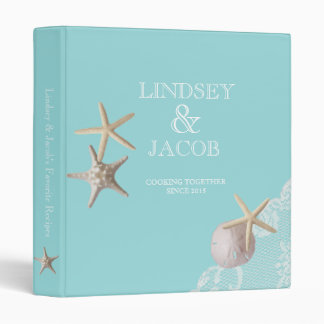 Starfish and Lace Beach Recipes 3 Ring Binder