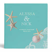 Starfish and Lace Beach Recipes 3 Ring Binders