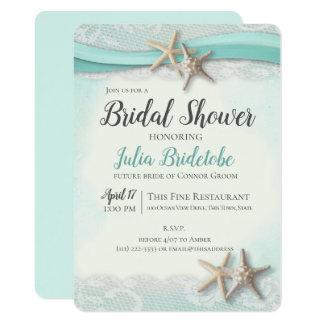 Starfish and Lace Bridal Shower Invitation