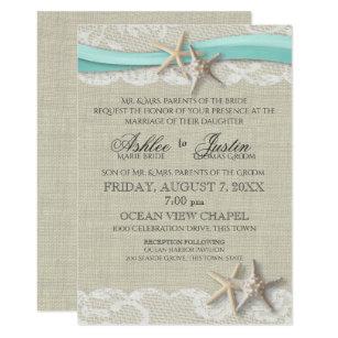 Rustic Beach Wedding Invitations Zazzle