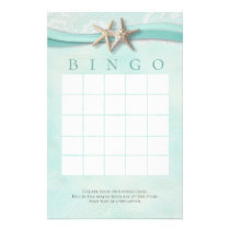 Starfish and Lace Shower Bingo Stationery