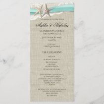 Starfish and Lace Wedding Program