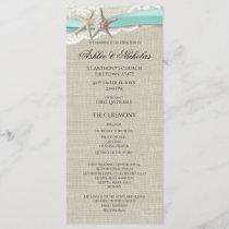 Starfish and Lace Wedding Program