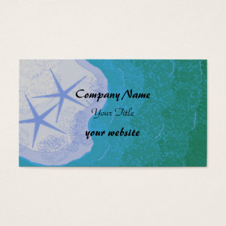 Starfish and Ocean Beach Theme Business Card