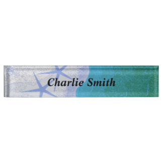 Starfish and Ocean Desk Name Plate