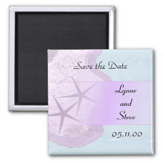 Starfish and Ocean Save the Date Refrigerator Magnet