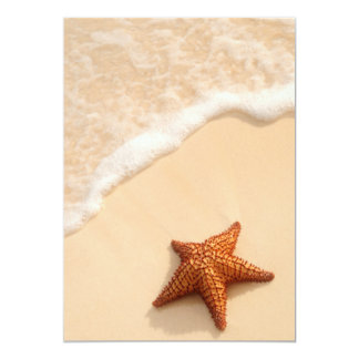 Starfish and ocean wave card