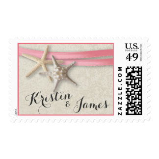 Starfish and Pink Ribbon Postage