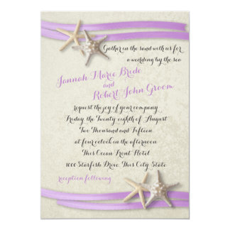 Starfish and Purple Ribbon Card