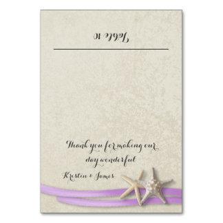 Starfish and Purple Ribbon Place Card
